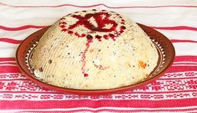 Trattamento tradizionale di Pasqua dalla cagliata e dalle noci fotografia stock libera da diritti