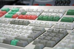 Trattare la tastiera dello scrittorio Immagini Stock Libere da Diritti