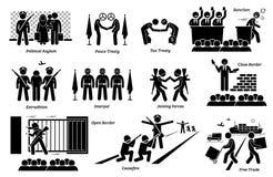 Trattati del paese internazionale, leggi e clipart di accordi illustrazione vettoriale