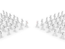 Trattative - due leader della squadra Illustrazione di Stock