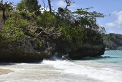 Tratti navigabili e viste private della spiaggia di Bluewater Fotografia Stock Libera da Diritti