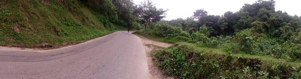 Tratto della collina di Rangamati Immagini Stock