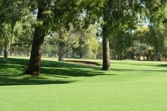 Tratto navigabile di terreno da golf fotografia stock libera da diritti