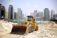 Trattore della costruzione in Doubai Immagini Stock