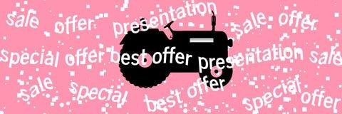 Trattore di logo Illustrazione di vettore Fotografia Stock Libera da Diritti