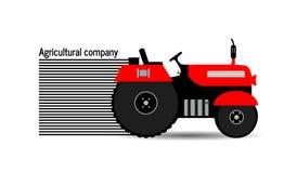 Trattore di logo, società agricola Immagine Stock