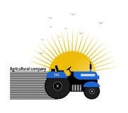 Trattore di logo, società agricola Immagini Stock