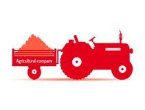 Trattore di logo, società agricola Immagine Stock Libera da Diritti
