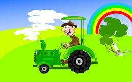trattore-driver royalty illustrazione gratis