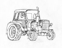 Trattore. Serie di veicoli. fotografia stock libera da diritti