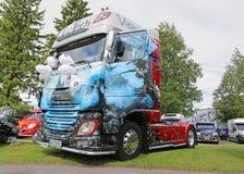 Trattore Viking del camion di DAF Euro 6 Fotografia Stock Libera da Diritti