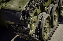 Trattori a cingoli e ruote del carro armato Fotografia Stock Libera da Diritti