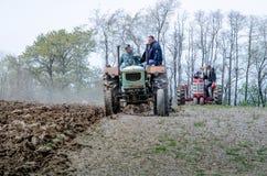 Trattori dell'annata e degli agricoltori nel Michigan U.S.A. Immagine Stock