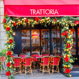 Trattoria Dell Angelo near Eiffel Tower, Paris Stock Photography