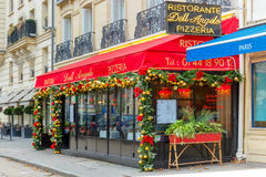 Trattoria Dell Angelo near Eiffel Tower, Paris Stock Image