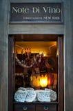 Trattoria Note di Vino en Florencia Imagenes de archivo