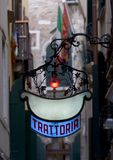 Trattoria Red White Blue royalty free stock photography
