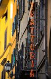Trattoria sign in Italy Stock Photography