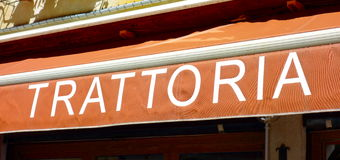 Trattoria Sign Royalty Free Stock Photo