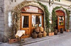 Trattoria tradizionale a Firenze fotografia stock libera da diritti