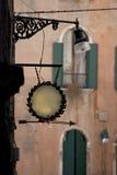 Trattoria Zeichen-Leerzeichen Stockbild