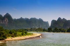 Tratwa w Li rzece w Guagxi regionie w Chiny Obraz Royalty Free