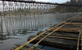 tratwy rzeki kabjanaburi Obraz Royalty Free