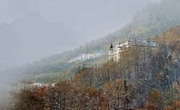 The romantic Tratzberg Castle in Tirol Austria. Tratzberg Castle is a castle in Jenbach, Tyrol, Austria. It was built in its present form essentially by the Royalty Free Stock Photo