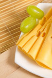 Traube und Käse Lizenzfreies Stockbild