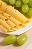 Traube und Käse Stockfotografie
