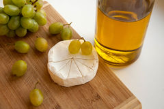 Traube und Käse Stockfoto
