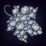 Traubeblatt bildete viel Diamanten Lizenzfreies Stockbild