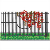 Trauben auf einem Zaun Stockfotografie