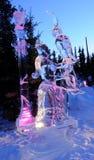 Trauben für meine Freund-Eis-Skulptur Stockbilder