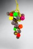 Trauben gemalt in den verschiedenen Farben Lizenzfreies Stockbild
