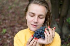 Trauben im Garten Stockfoto