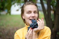 Trauben im Garten Lizenzfreies Stockbild