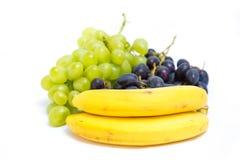 Trauben und Bananen Lizenzfreies Stockbild