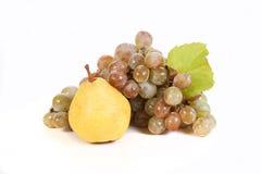 Trauben und Früchte Stockbild