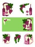 Trauben und Wein Lizenzfreies Stockfoto