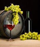 Trauben und Wein   Lizenzfreies Stockbild
