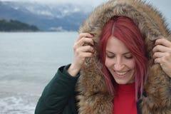 Trauen Sie sich, rosa Haar zu haben! stockbilder