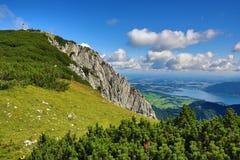 Trauensee and Gmunden, The mountain scenery around Feuerkogel, Salzkammergut, Salzburg, Austria Stock Images