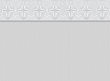 Trauerhintergrund mit dekorativer Grenze Stockbilder