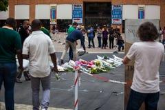 Trauernd-Versammlung für Mandela Lizenzfreie Stockfotos