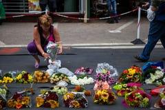Trauernd-Versammlung für Mandela Lizenzfreie Stockfotografie