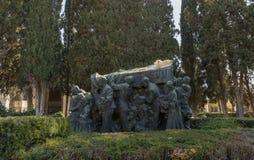 Trauerzug Joselito el Gallo im Kirchhof von Sevilla lizenzfreies stockbild
