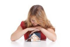 Traum über Haus lizenzfreies stockfoto