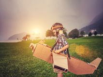 Traum zum zu fliegen Lizenzfreie Stockfotos