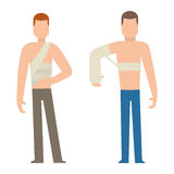 Trauma accident and human body safety vector people silhouette Stock Image